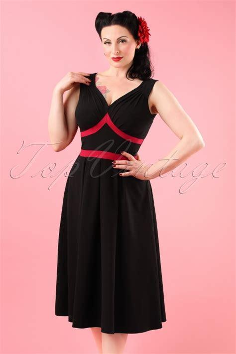 swing kleider wien topvintage exclusive 50s vienna swing dress in black and