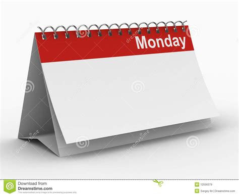 sunday calendar schedule blank page royalty free stock calendar for monday on white background royalty free stock