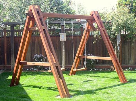 wooden swing sets for adults redwood swing set
