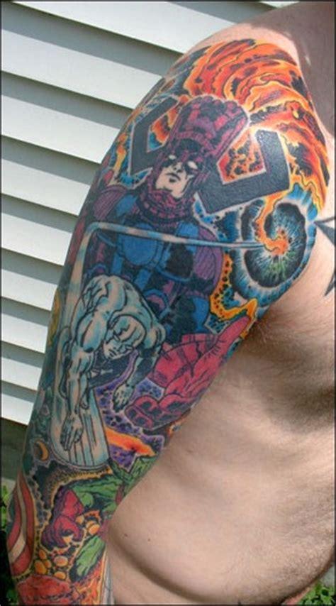 comic book sleeve tattoo designs great comic book tattoos comic book critic