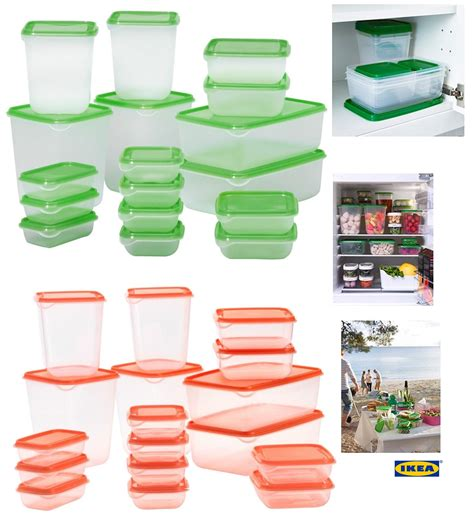 Ikea Pruta ikea pruta set 17 pcs high quality plastic transparent
