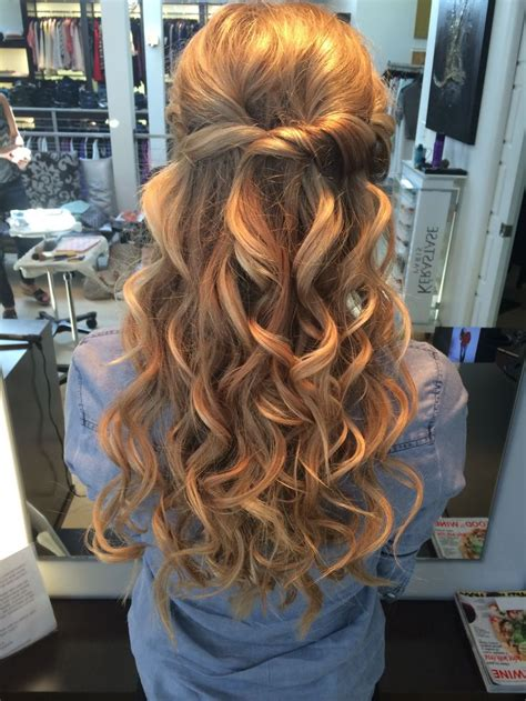 prom half up half down hair hairstyles pinterest