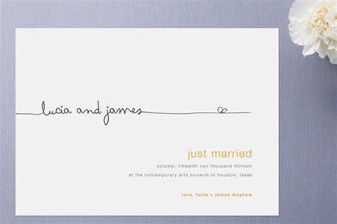 Wedding Announcement by Top 10 Wedding Announcements Bridalguide