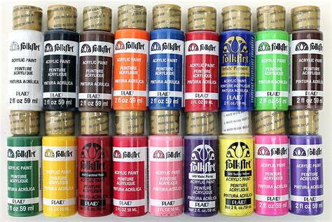 folk acrylic paint bulk acrylic paint folkart liquitex craft assorted