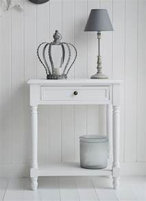 White Hallway Table Cove Bay Small White Console Table With Drawer And Shelf For Hallway Or Living Room Large