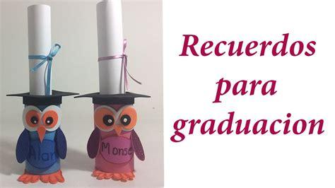 recuerdos para graduacion de preescolar recuerdos para graduaci 243 n con rollos de papel youtube