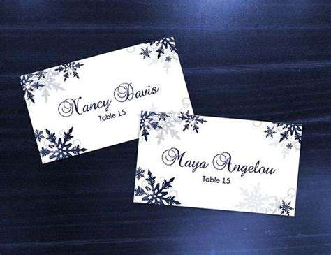Microsoft Word Templates Place Holder Cards Winter by 25 Best Ideas About Place Card Template On