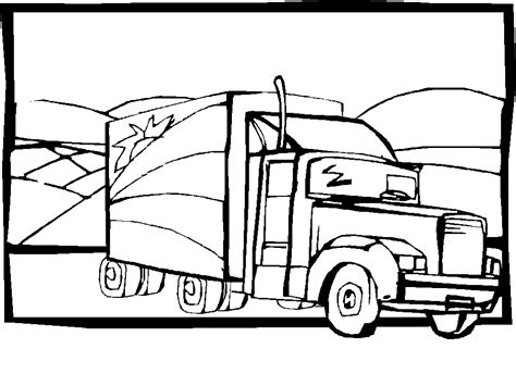 Free Pag Truck Coloring Pages Truck Color Pages