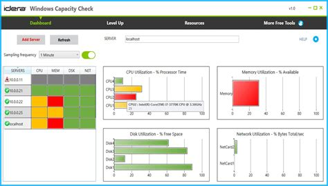 server checker windows server capacity check tool idera