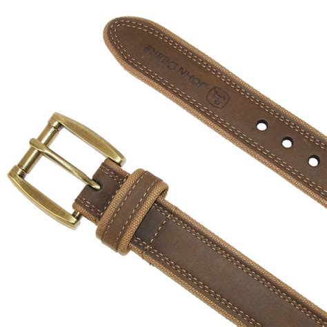 mens leather with canvas edges belt by