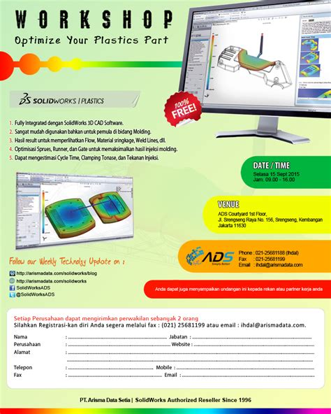 tutorial solidworks plastics sw plastic reseller solidworks indonesia since 1996
