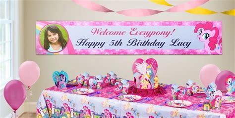 Bunting Flag Happy Birthday Banner Hbd Karakter Pony custom my pony birthday banners city