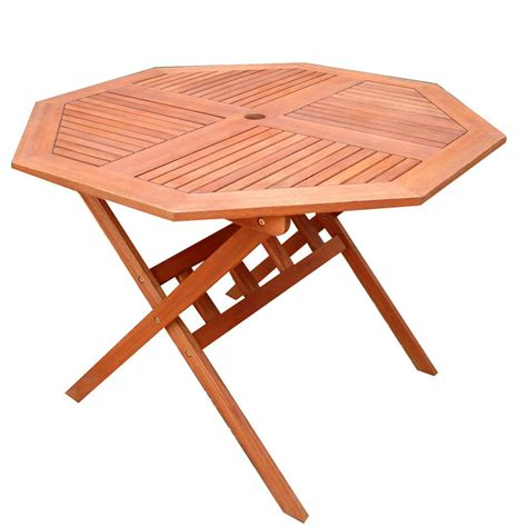 Octagon Patio Table Plans Shop Vifah 40 In X 40 In Wood Octagon Patio Dining Table At Lowes