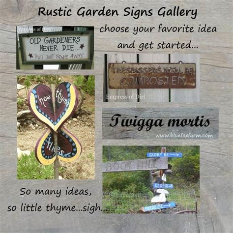 Rustic Garden Signs Gallery Get Your Favorite Garden Garden Sign Ideas
