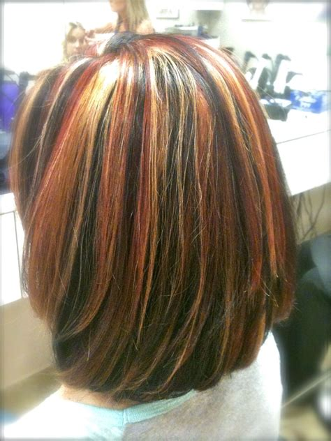 Hair Styles That Are Tricolored Hairstylegalleries Tri Color Highlights On Shoulder Length Hair Stylist Wendy Brown Minot Salon My Style