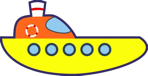 cartoon yellow boat big image png
