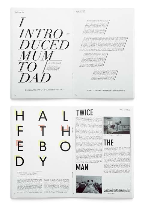 magazine layout options 18 best magazine double page spreads images on pinterest