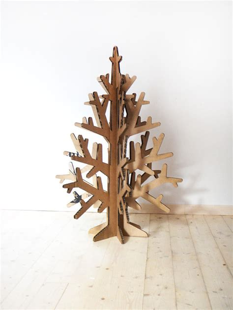 laser cut recycled cardboard christmas tree by