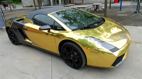 lamborghini car gold 2009 lamborghini gallardo gold wrap by g1 tour peel