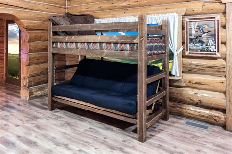 Log Cabin Style Baby Cribs by Farmhouse Style Futon Bunk Bed Rustic Log Cabin Bedroom