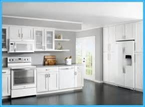 White Cabinets Kitchen white kitchen cabinets with white appliances modern wood