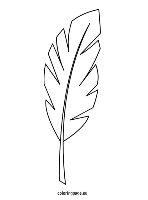 palm branch template coloring page