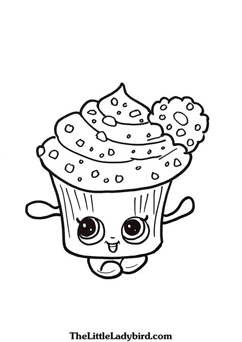 shopkins coloring pages cupcake queen free cupcake queen shopkins coloring page