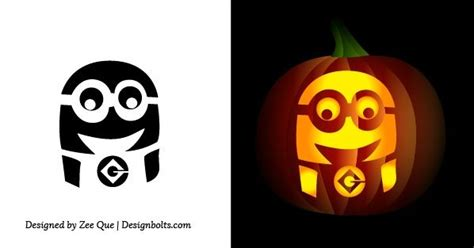 minion pumpkin carving stencil car pictures halloween