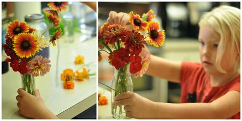 arranging flowers a natural nester flower arranging with children