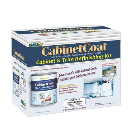 acrylic enamel paint for cabinets insl x cabinet coat 1 gal kit includes white trim and