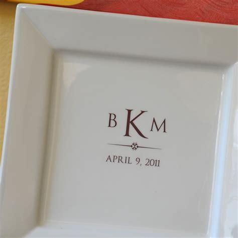 wedding guest book platter monogram signature wedding guest book platter up to 50