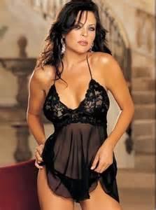Fashion care 2u l947 p plus size black sheer chemise sleepwear
