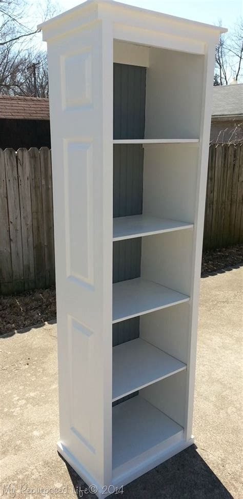 Bookcase Closet Doors by Bookcase Made From Bi Fold Doors At Repurposed