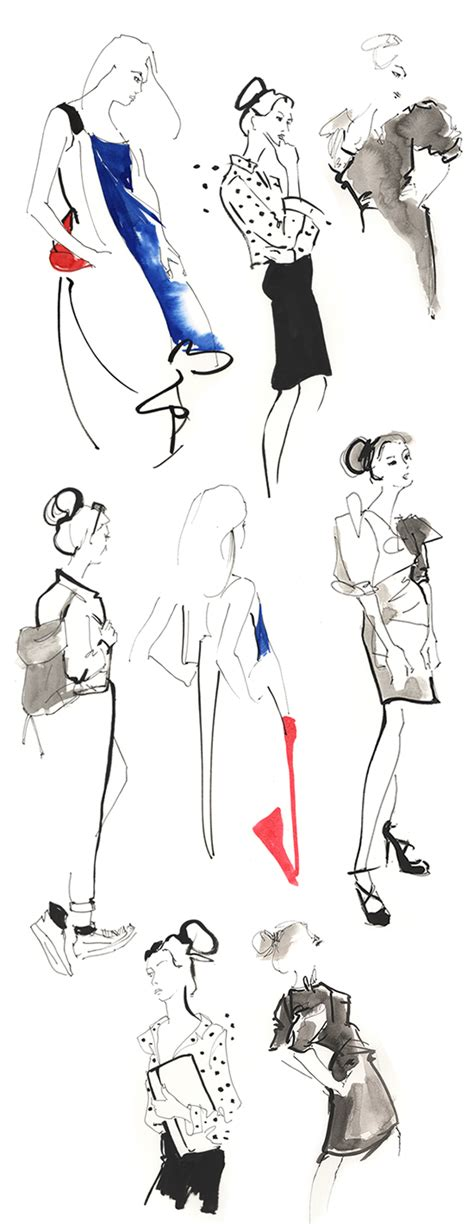 fashion illustration classes tangled up in blue at the salon