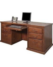 Fully Assembled Computer Desks Deal On Kathy Ireland Home By Martin Huntington Oxford 68 Quot Pedestal Executive
