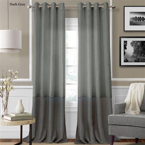semi sheer curtain panels melody semi sheer grommet curtain panels