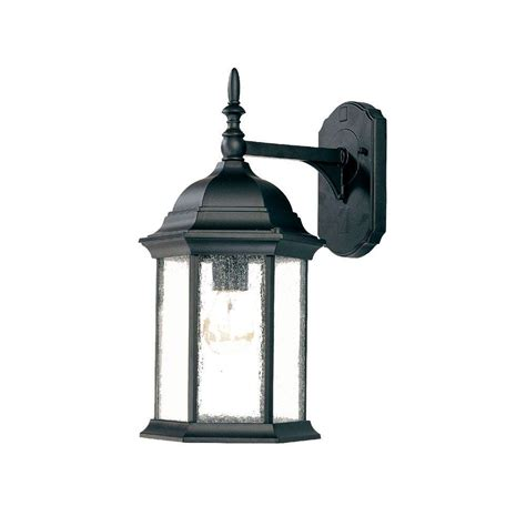 Home Depot Outside Light Fixtures Acclaim Lighting Craftsman Collection 1 Light Matte Black Outdoor Wall Mount Light Fixture