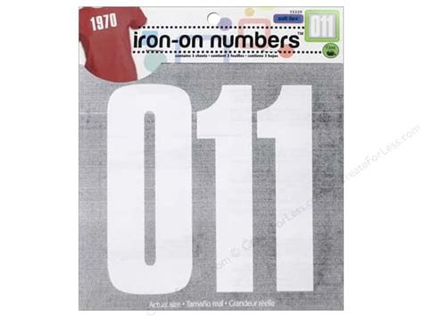 printable iron on numbers soft flex iron on numbers by dritz 5 in white