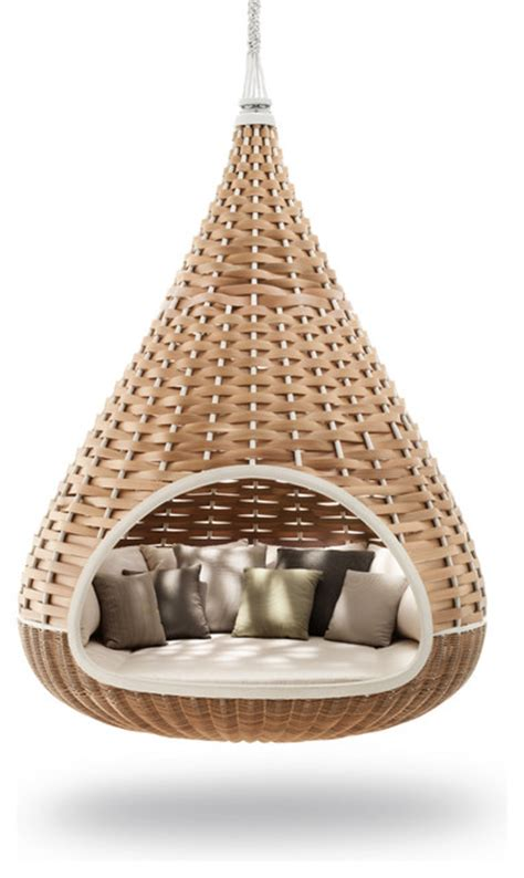 hanging cocoon swing nestrest by daniel pouzet and fred frety patio furniture