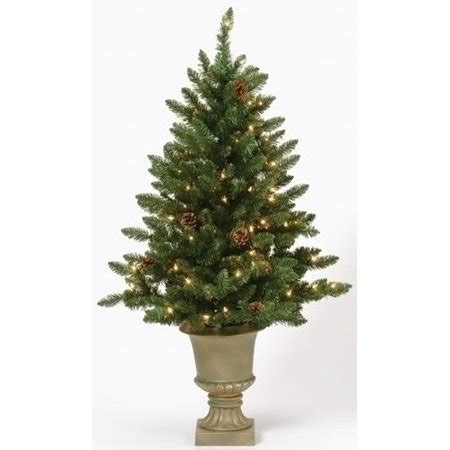 walmart christmas trees potted 4 pre lit potted freemont pine artificial tree clear lights walmart