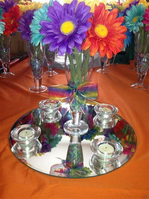rainbow wedding centerpiece ideas