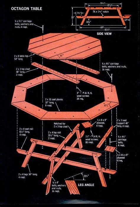 popular mechanics woodworking plans hexagonal picnic table plan from popular mechanics free