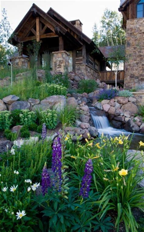 Rocky Mountain Patio by 75 Relaxing Garden And Backyard Waterfalls Digsdigs