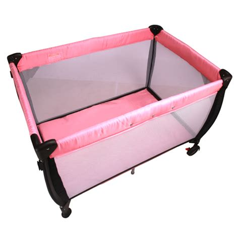 Cot Change Table Baby Travel Cot W Bassinet And Change Table Pink Buy Portacots