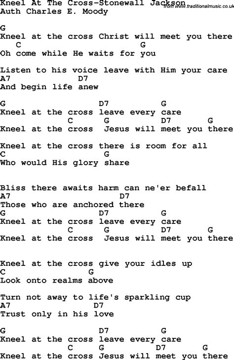 Guitar Chords For At The Cross