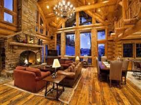 Log Cabin Home Interiors by Awesome Log Cabins 36 Pics
