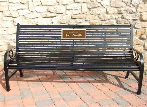 bench memorial plaques 5 foot broadway memorial park bench occ outdoors