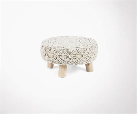 Tabouret Repose Pieds by Tabouret Repose Pied Style Ethnique Finition Bois Coton