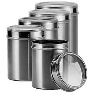 stainless kitchen canisters stainless steel kitchen storage canisters with see through lid set of 5 size 8 9 10 11 12