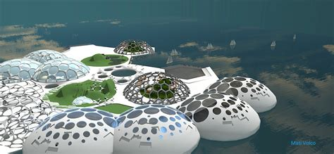 island design ramform archipelago of floating islands floating island